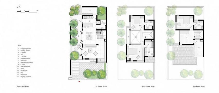 Vietnam-house-by-AHL-14 | small house plans | Pinterest | Vietnam ...