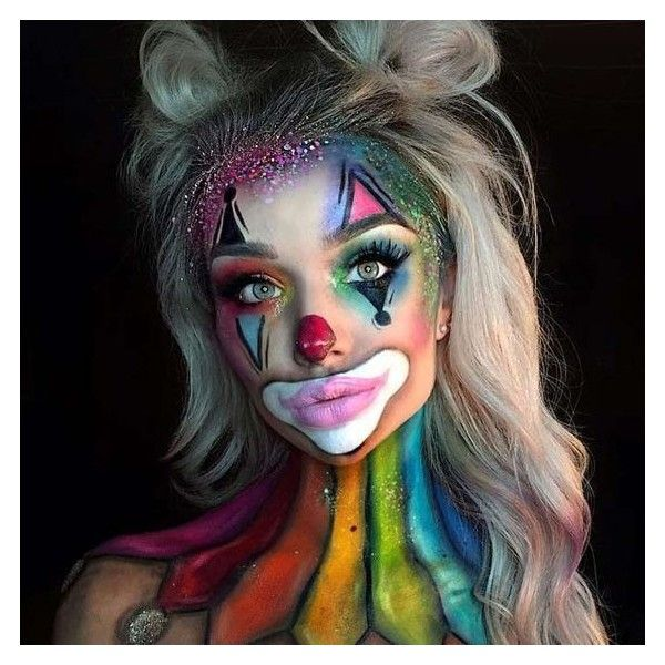 21 Halloween Face Makeup Ideas for a Big Party ❤ liked on Polyvore - face makeup ideas for halloween