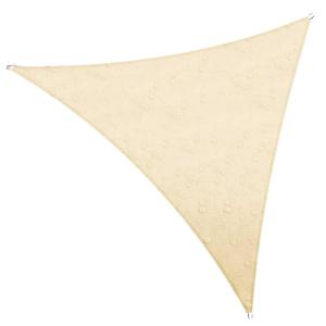 Colourtree 12 Ft X 12 Ft 220 Gsm Waterproof Beige Triangle Sun Shade Sail Screen Canopy Outdoor Patio And Pergola Cover Tadt12 3 The Home Depot In 2021 Sun Sail Shade Shade Sail Waterproof Shade Sails