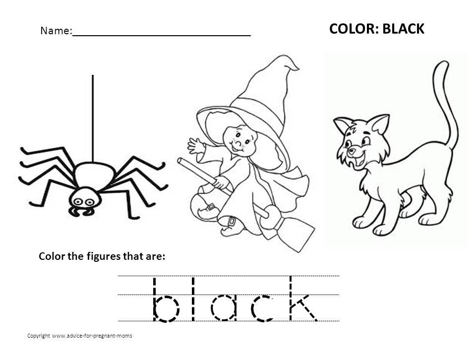 Preschool Color Black Color Black Worksheets Preschool Color Worksheets For Preschool Coloring Worksheets For Kindergarten Free Preschool Worksheets