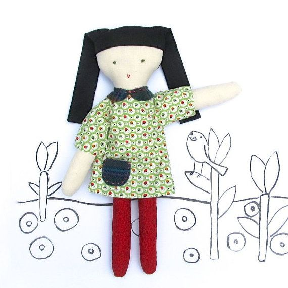 Beatrice Cloth Doll Sewing Pattern PDF Sewing by SweaterDoll   Dolls ...