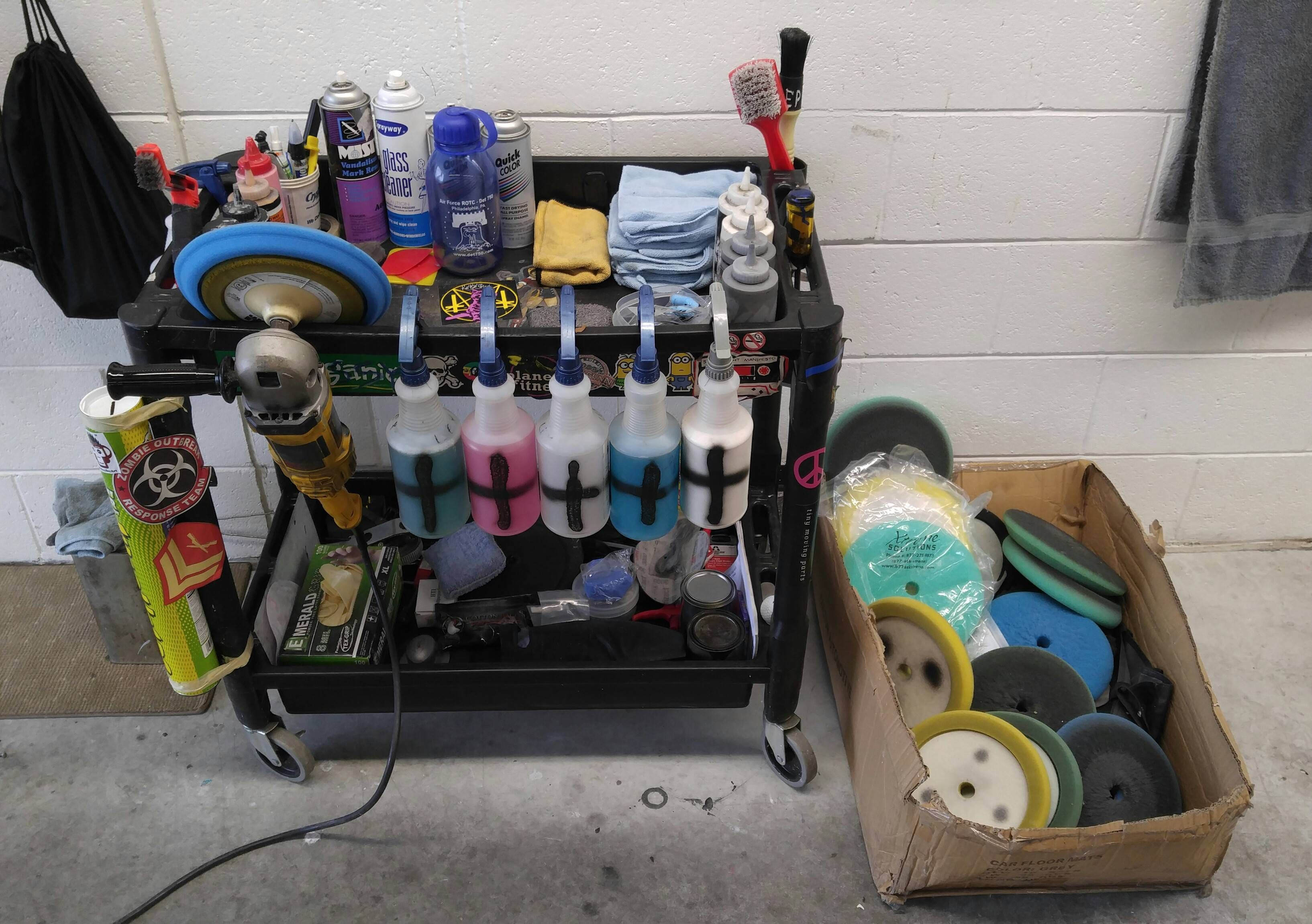 Clean cart happy detailer im a buffer at a high volume
