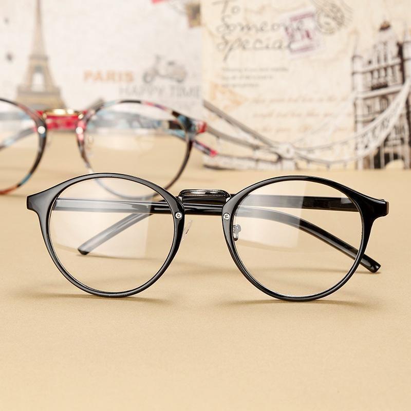 Simplelife Unisex Retro Style Round Frame Glasses