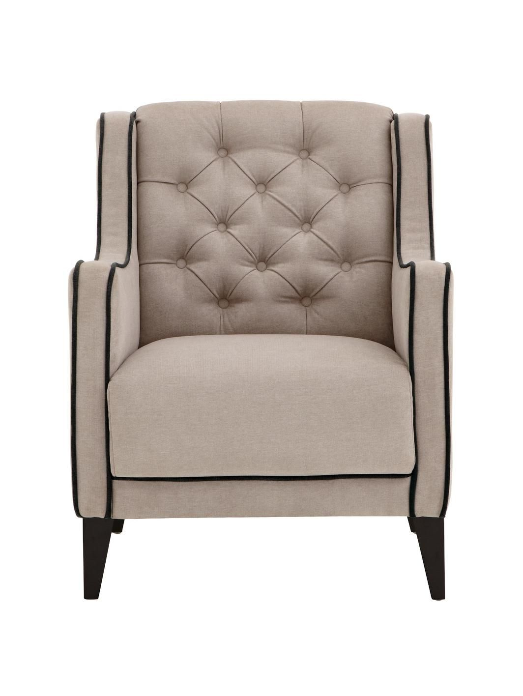 Laurence Llewelyn Bowen Portigo Fabric Armchair With Contrast PipingDrawing  Inspiration From The Extravagant Home Fashions
