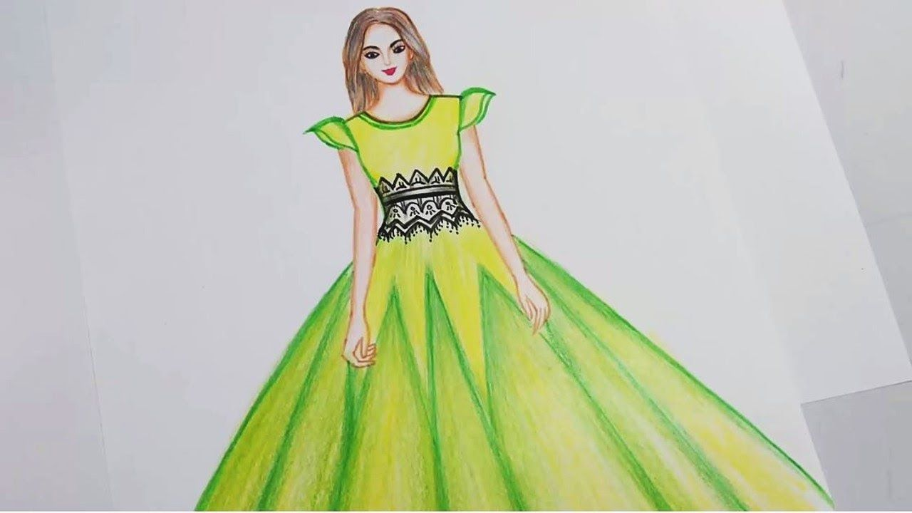 Easy drawings How to draw a beautiful dress CAM STYLES