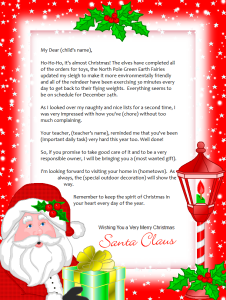 Free Printable Santa Letter  Letter  Backgrounds Page