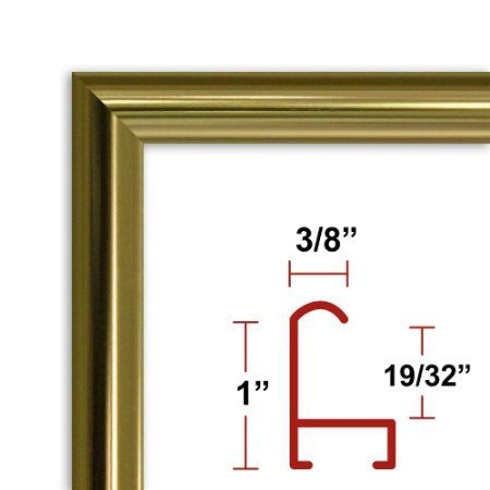 36 x 48 Gold Poster Frame Profile: #15 Custom Size Picture Frame ...