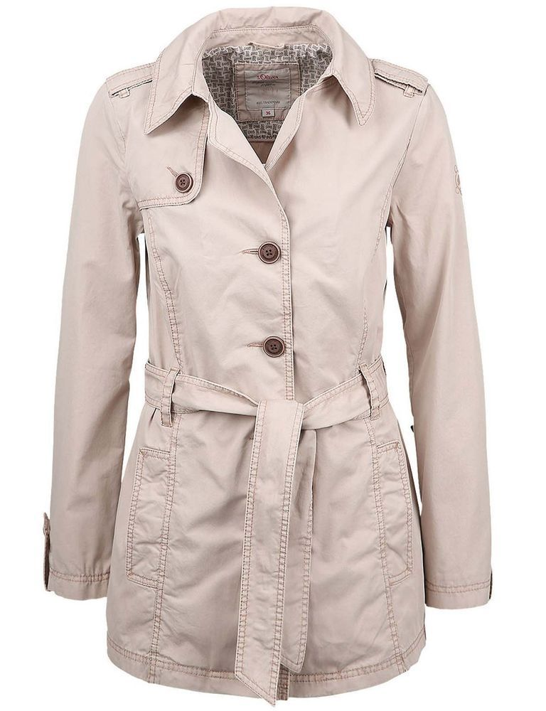 timeless design a60cb ad761 s.Oliver Damen Trenchcoat Sommerjacke Jacke beige Neu Gr.44 ...