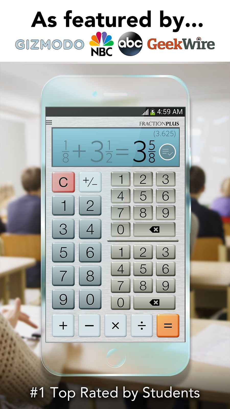 Fraction Calculator Plus Get It Right Every Time Education Productivity Apps Ios Ios Apps Productivity Apps Calculator