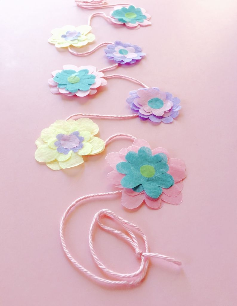 Tissue Paper Flower Streamers Made From The Miss Bipps Kits The