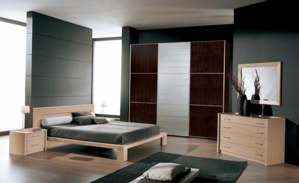 Schlafzimmer neu gestalten – gemütliche Schlafatmosphäre mit dunklen ...