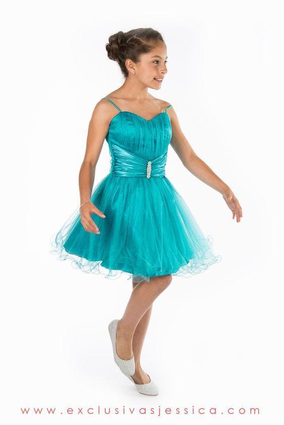 Vestido azul jade