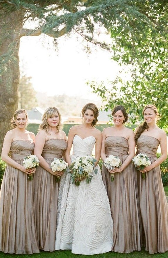 Real Wedding: Elegance in Montecito - Bridal Party,summer wedding ...