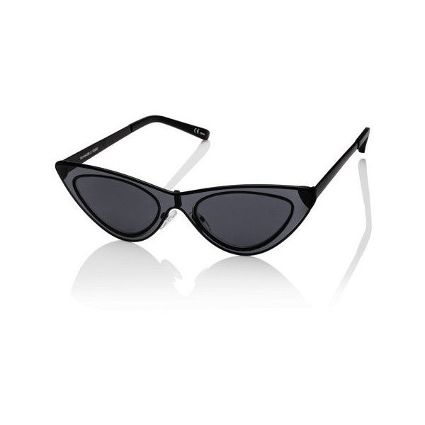 71c3c30f047 Adam Selman x Le Specs The Hunger Sunglasses Satin Black ( 119) ❤ liked on  Polyvore featuring accessories
