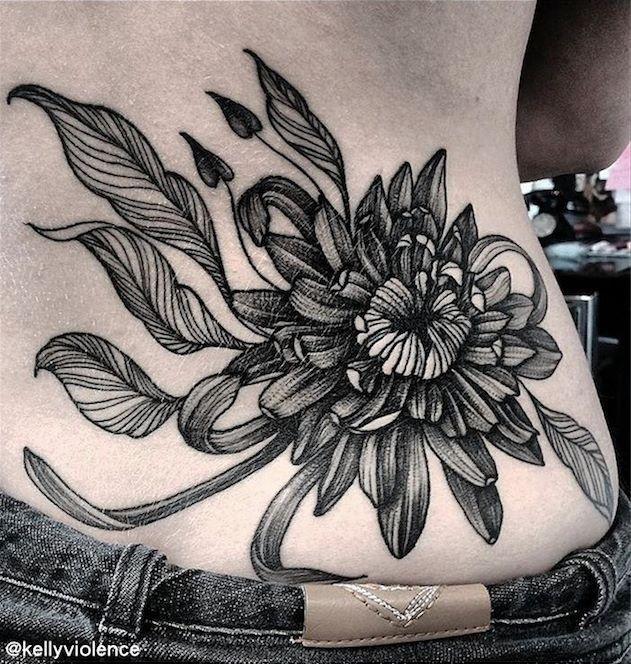 Black And Grey Chrysanthemum Chrysanthemum Tattoo Tattoos Arm Cover Up Tattoos