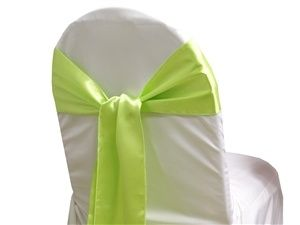 Apple Green Satin Chair Sashes (Pack of 5)