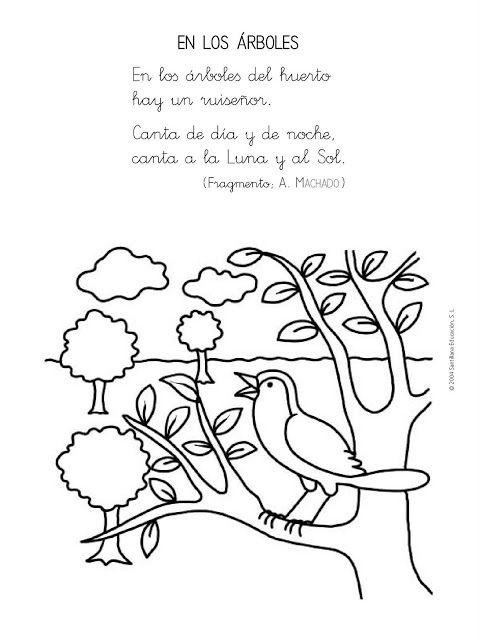 Recursos Y Actividades Para Educación Infantil Poesías Sobre Los Arboles Letras De Canciones Infantiles Poesía Para Niños Poesía