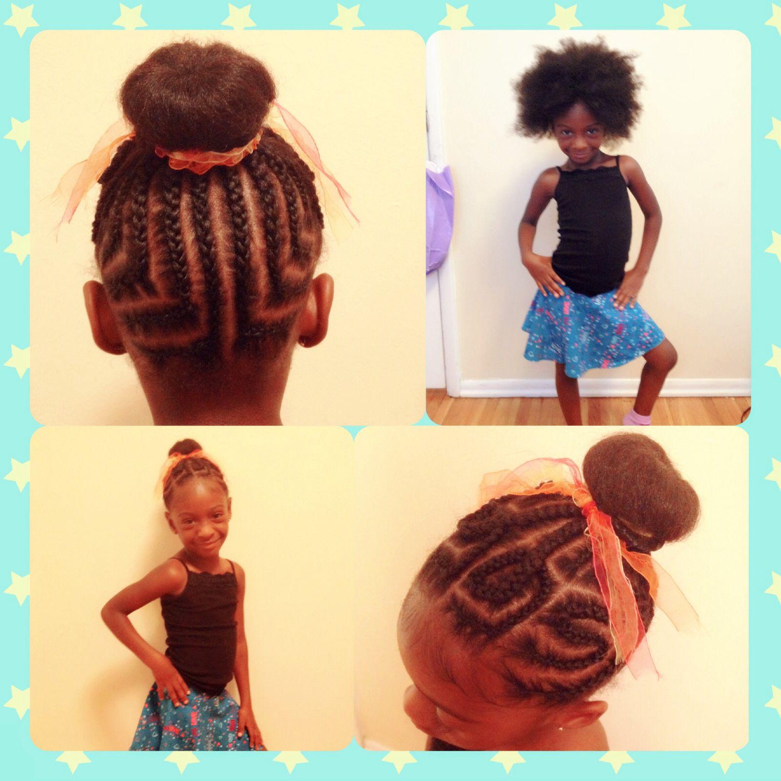 Black Braided Bun Hairstyles Little Black Girls Hair Styles African American Braids Bun