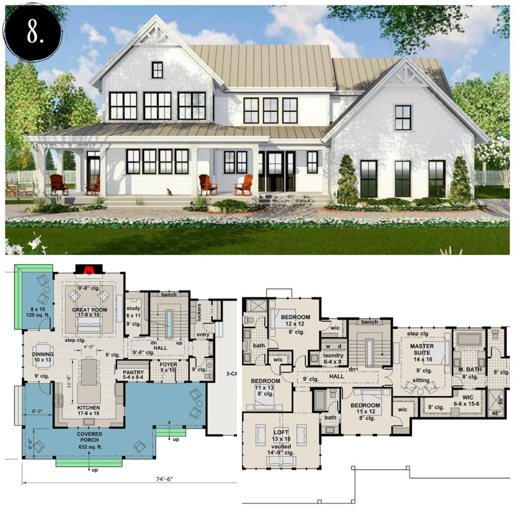 12 Modern Farmhouse Floor Plans Modern farmhouse