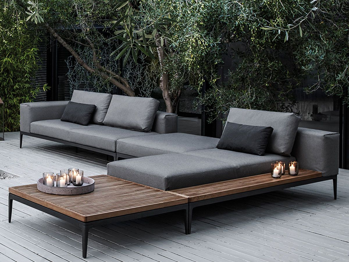 gloster grid sectional gloster outdoor furniture outdoor lounge furniture pool furniture outdoor sectional