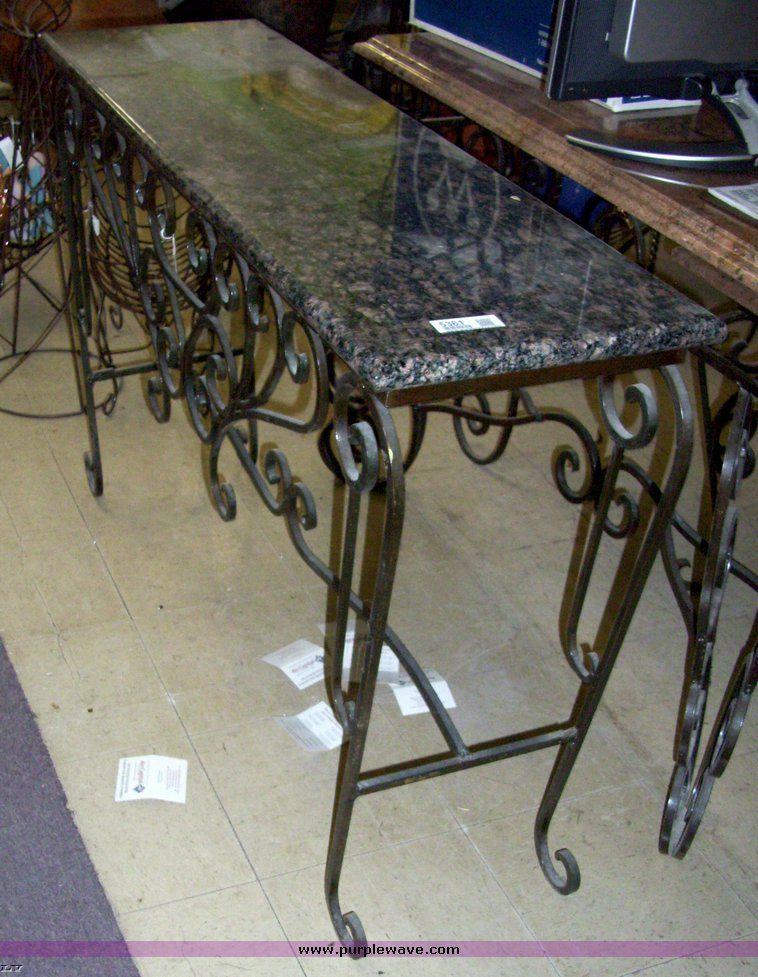 Iron Ilration Of Wrought Sofa Table