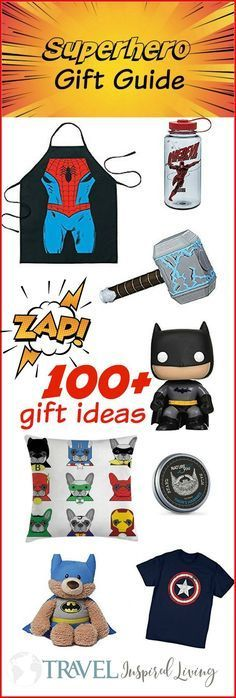 The Ultimate Superhero Gift Guide with 100+ items #superherogifts This Superhero gift guide has over 100 superhero gift ideas. You're sure to find something for the superhero lover in your life. #GiftGuide #Superheroes #Kids #Gifts #superherogifts
