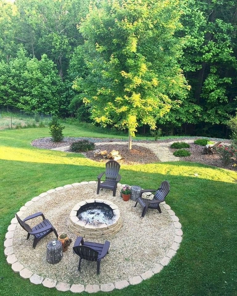 55 Amazing And Cheap Fire Pit And Backyard Landscaping Ideas