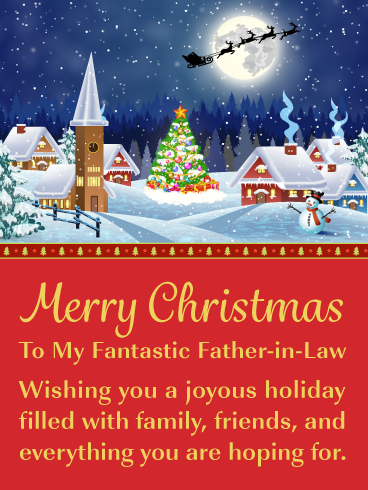 Winter Wonderland Merry Christmas Card For Father In Law Birthday Greeting Cards By Davia Merry Christmas Card Christmas Cards Birthday Greeting Cards