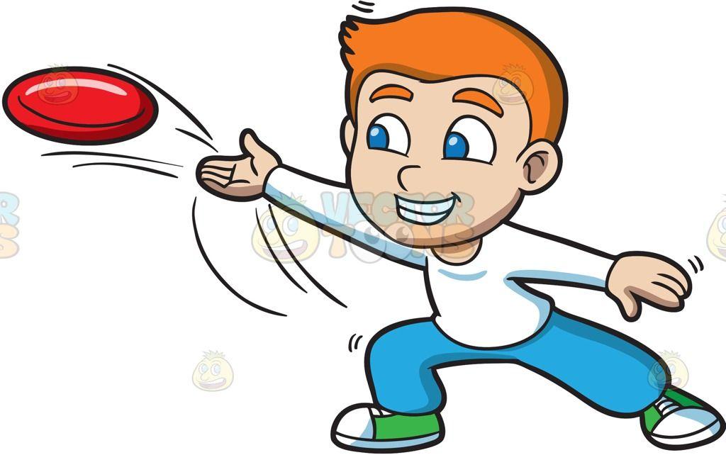 a boy throwing a frisbee rh pinterest com frisbee golf clip art frisbee golf clip art