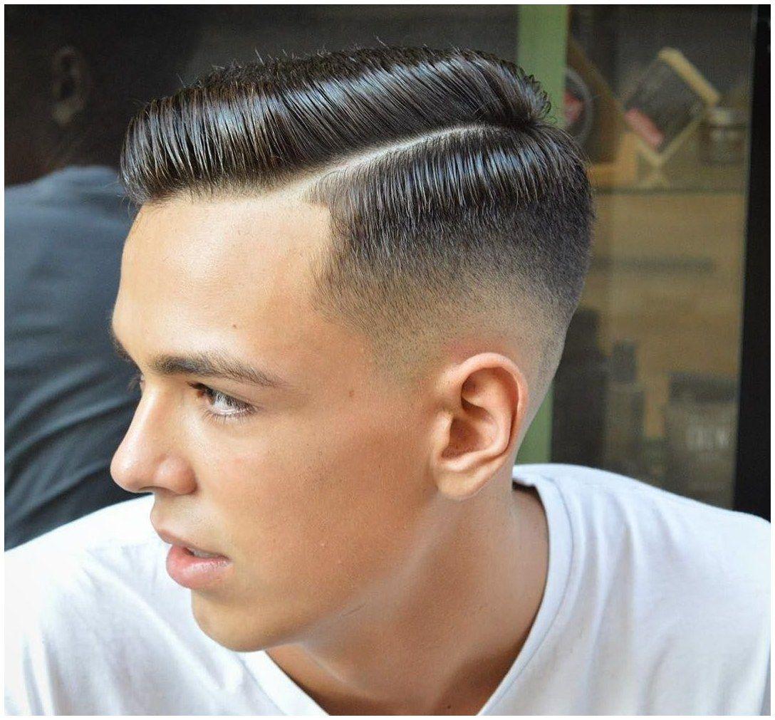 Men's haircut side part longhaircut guyshair guyshairstyles virogasbarberslickedshort