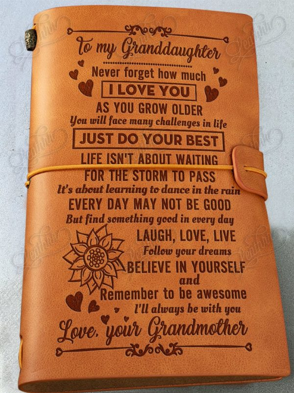 Great Gifts For Your Granddaughter Vintage Journal Notebook In 2020 Granddaughter Gift Leather Journal Back To School Gifts