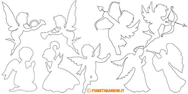 sagome di angeli da stampare e ritagliare natale