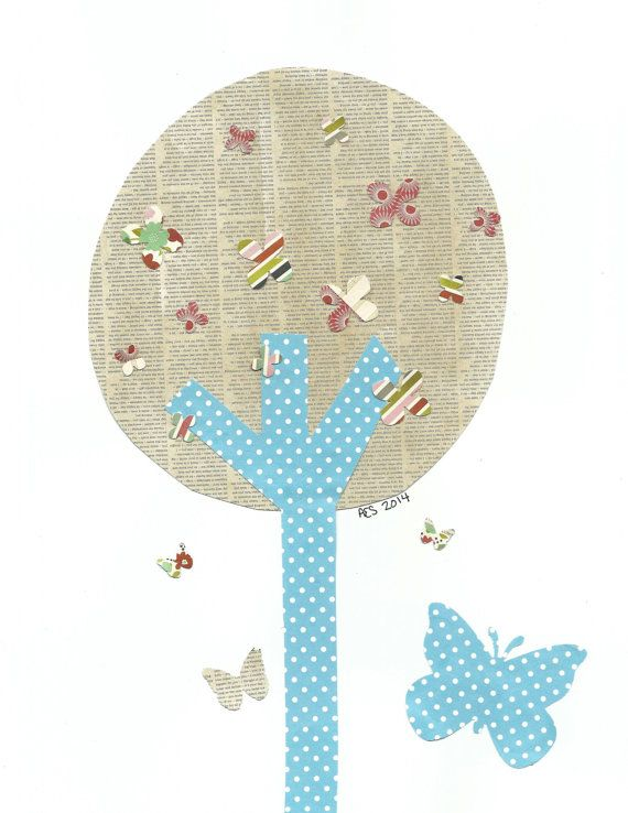 Butterflies in a Tree Nursery Artwork Print Baby Room Decoration Kids Room Decoration Gifts 20 print wall art sail away with me on Etsy, $14.00
