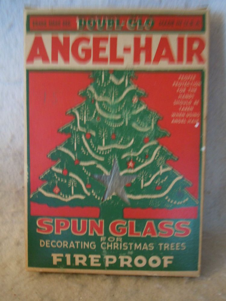 vintage doubl glo angel hair in original box very pretty but a health - Angel Hair Christmas