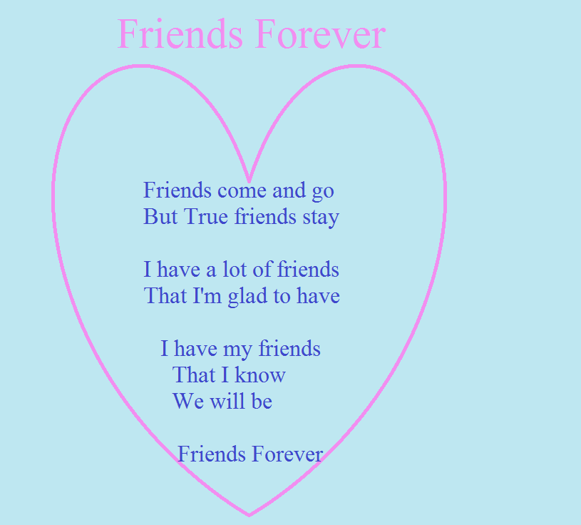 Friends Forever Quotes Poems : Poems about friendship friends forever places to visit
