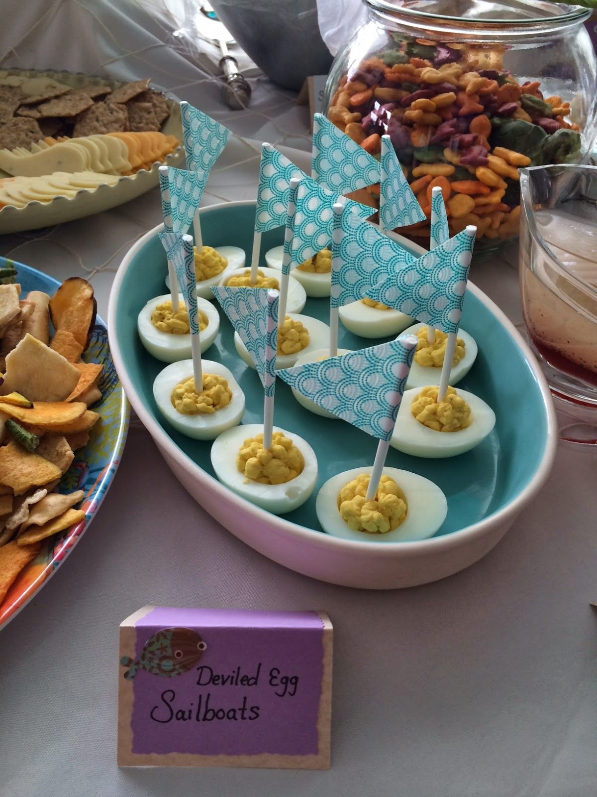 Deviled Egg Sailboats Underwater Themed Baby Shower Baby Showers