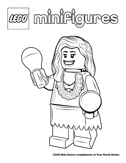 LEGO Colouring Page – Hula Girl | Hula girl, Hula and Lego