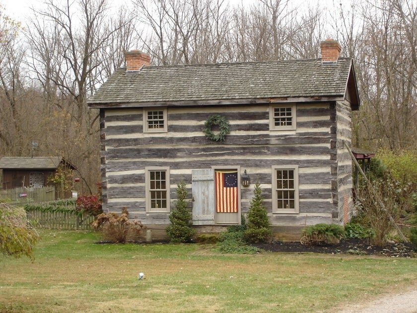 Farmhouse vintage early american farmhouse in historic for Early american house styles