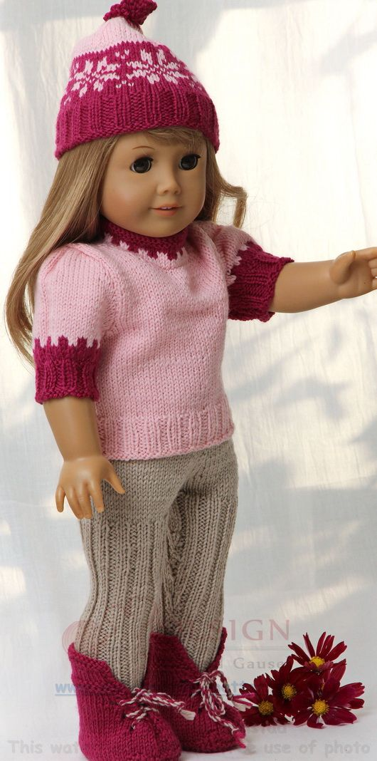 Doll knitting pattern for great everyday clothes