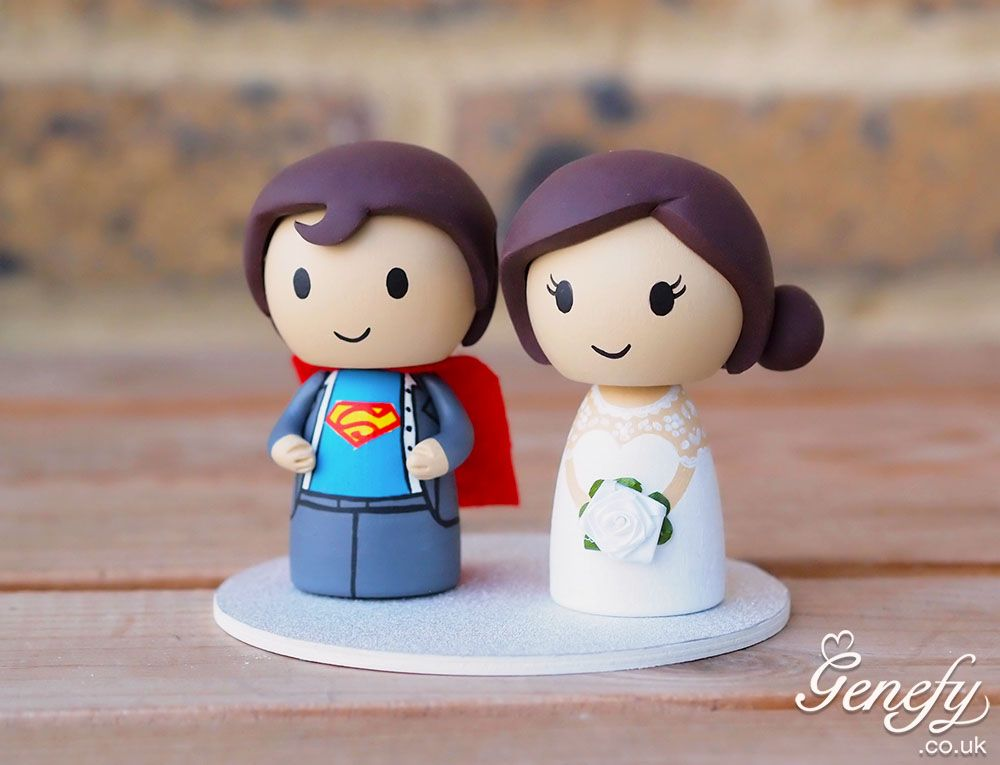 Superman And Bride Wedding Cake Topper By Genefy Playground Https Www Facebook