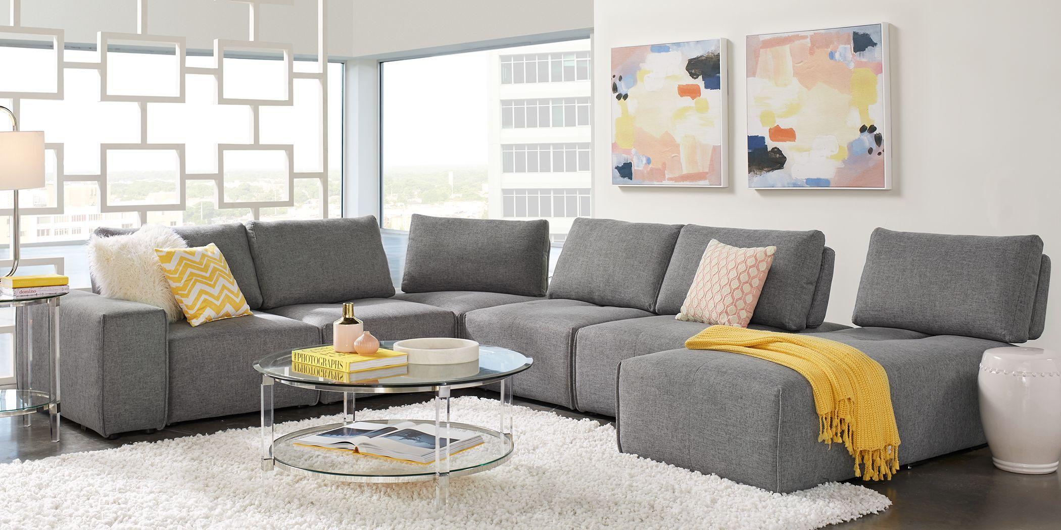 Laney Park Dark Gray 7 Pc Sectional In 2020 Living Room Sets Furniture Furniture Living Room Suite #oversized #living #room #furniture #sets