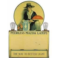 Very Rare Peerless Mazda Lamp Store Display