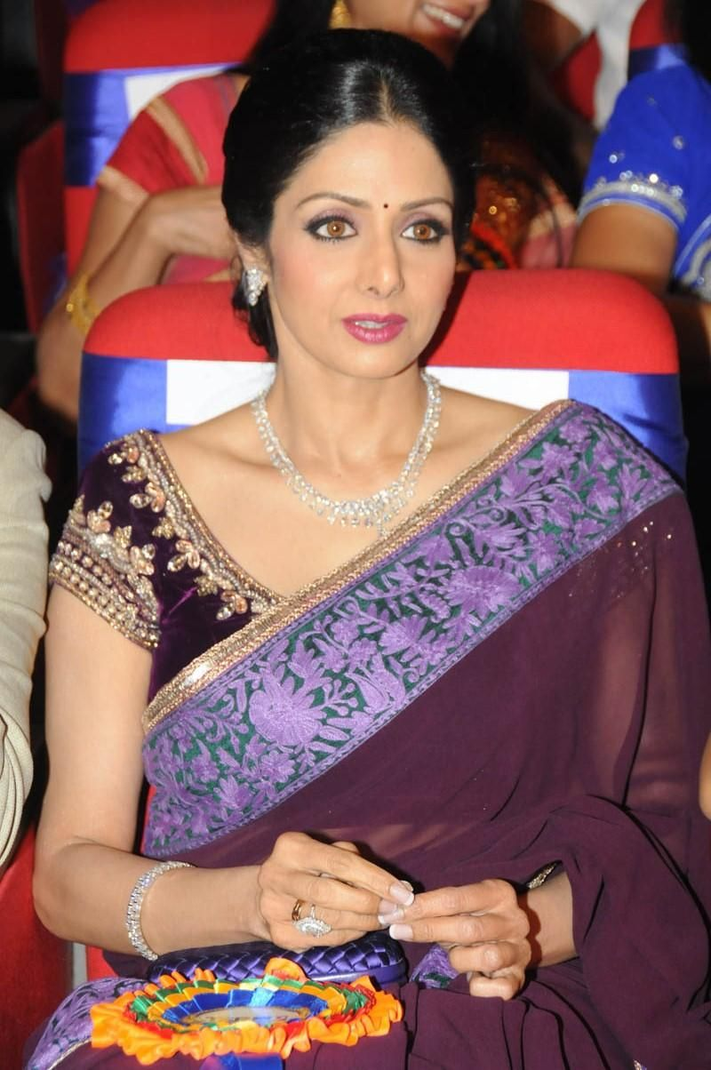 pthc azizo Sridevi Kapoor | Sridevi Kapoor Glamour Look In Saree At TSR TV9 Film Awards Function .