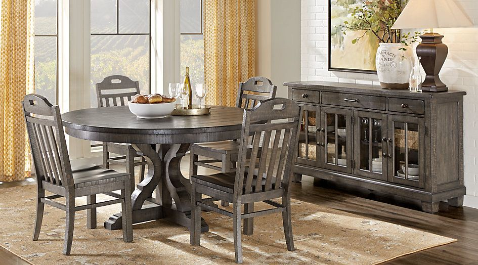 picture of Westbrook Gray 5 Pc Round Dining Room from  Furniture