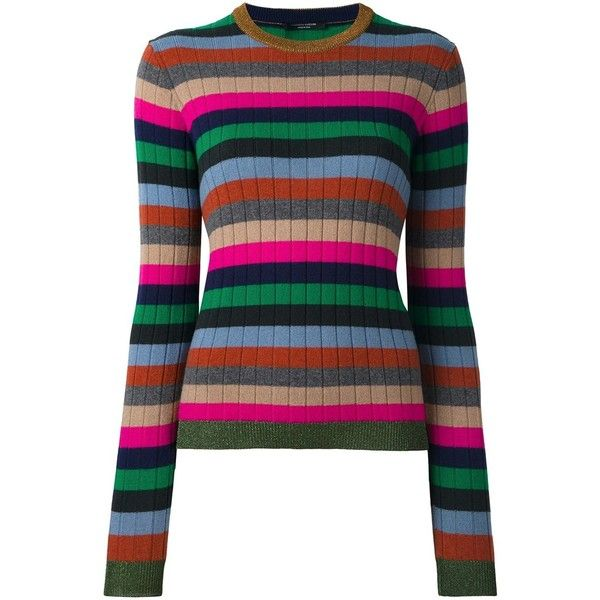 Roberto Collina Striped Ribbed Jumper ($273) ❤ liked on Polyvore ...
