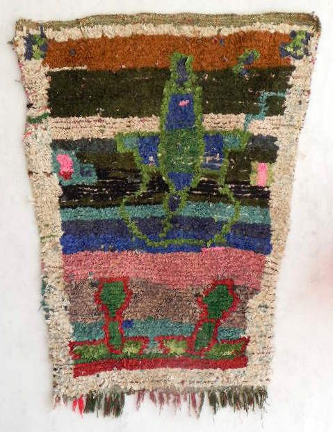 vintage moroccan rag rug   boucherouite