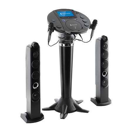 Singing Machine Bluetooth Pedestal Karaoke System, One Size , Black