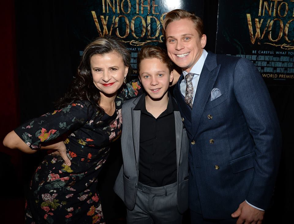 Tracy Ullman, Daniel Huttlestone, and Billy Magnussen at the New York premiere for Into the Woods!