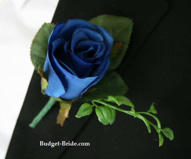 royal blue rose boutonniere boutonnieres and corsages