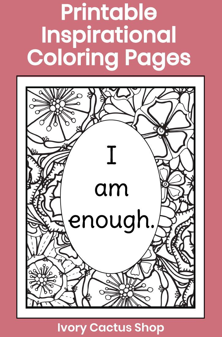 Printable inspirational coloring pages for adults with ...